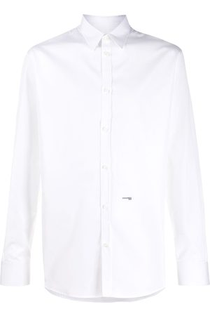 Dsquared2 Men Shirts - Micro-logo print relaxed fit shirt