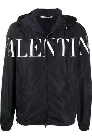 VALENTINO Men Jackets - Logo print hooded jacket