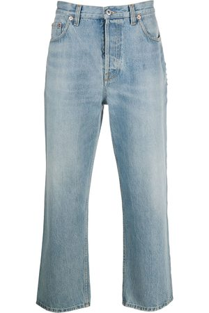 VALENTINO Men Jeans - Cropped ankle grazer jeans