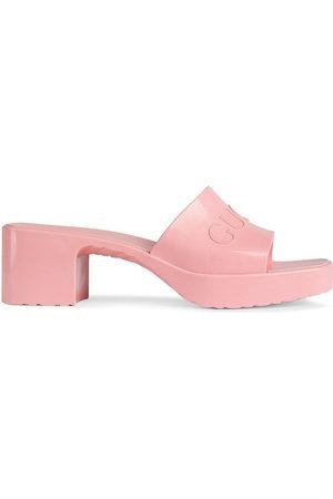 Gucci Women Sandals - Logo embossed sandals