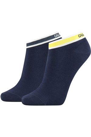 Calvin Klein Logo Cuff Stripe Spencer Socks 2 Pairs EU 37-41 Peacoat