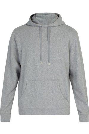 Sunspel Cotton-jersey Hooded Sweatshirt - Mens - Grey