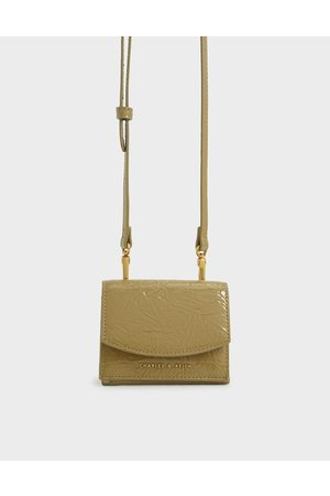 CHARLES & KEITH Wallets - Wrinkle Patent Mini Short Wallet