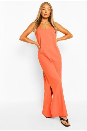 Boohoo Womens Plunge Back Strappy Maxi Dress - - 4