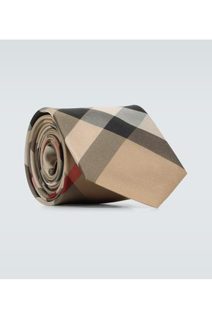 Burberry Monston checked silk tie