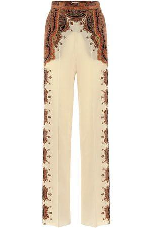 Etro Wide-leg printed silk pants
