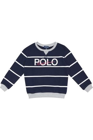 Ralph Lauren Logo striped cotton sweatshirt