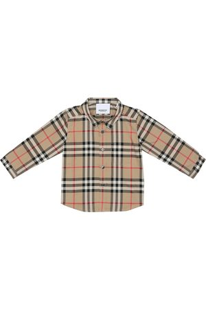 Burberry Baby checked cotton shirt