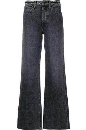 SLVRLAKE Raw-hem wide-leg jeans - Grey