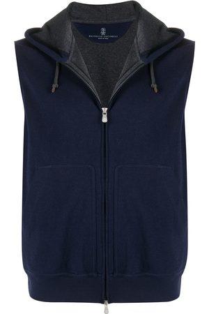 Brunello Cucinelli Drawstring hooded vest