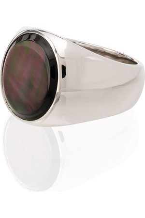 TOM WOOD Women Rings - Sterling silver mother-of-pearl ring