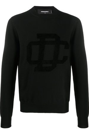 Dsquared2 Logo patch crew neck jumper