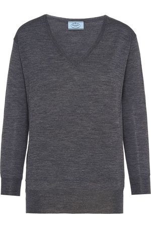 Prada V-neck jumper - Grey