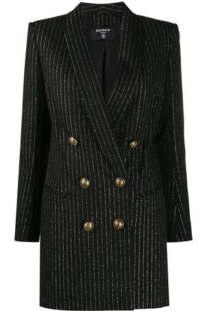 Balmain Metallic threading blazer dress
