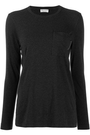 Brunello Cucinelli Long-sleeved T-shirt - Grey