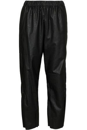 MM6 MAISON MARGIELA Women Sweatpants - Faux leather track pants