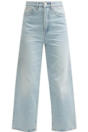 Totême Women High Waisted - Flair High-rise Wide-leg Jeans - Womens - Light
