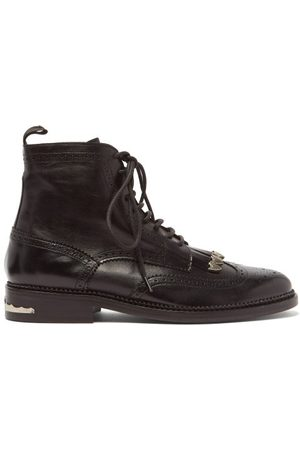 TOGA VIRILIS Tasselled Lace-up Leather Boots - Mens