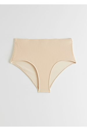 & OTHER STORIES Ribbed High Waisted Bikini Briefs