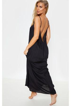 PRETTYLITTLETHING Low Back Oversized Maxi Beach Dress