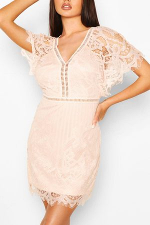 Boohoo Womens Boutique All Over Lace Bodycon Dress - - 2