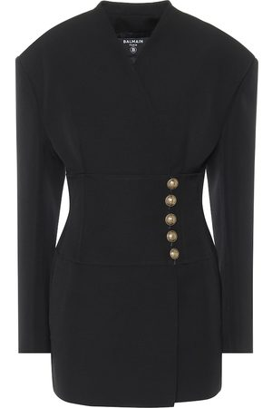 Balmain Wool-crêpe minidress