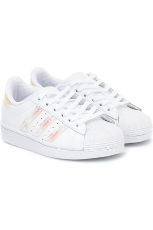 adidas Superstar leather trainers