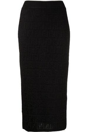 Fendi Monogram pattern knitted skirt