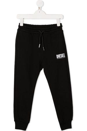 Diesel Boys Sweatpants - Logo print track pants