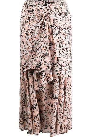 Proenza Schouler Abstract animal print layered skirt - CORAL/ ABSTRACT ANIMAL