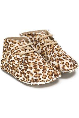 GALLUCCI Leopard print booties