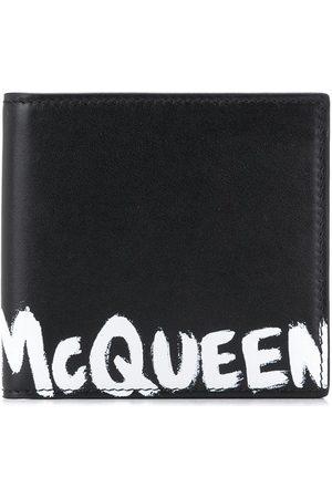 Alexander McQueen Paint-effect logo wallet