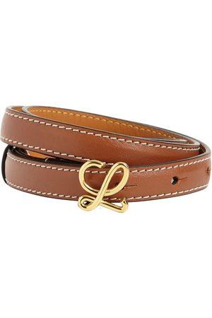 Loewe Women Belts - 1.5cm Leather Logo Belt