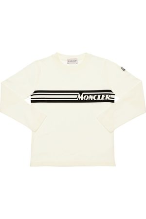 Moncler Boys T-shirts - Logo L/s Cotton Jersey T-shirt