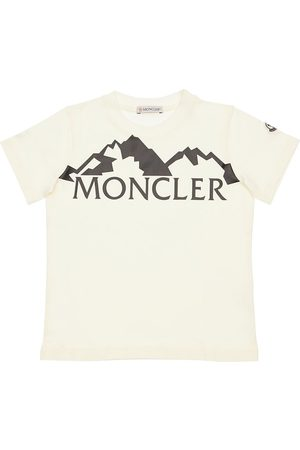 Moncler Boys T-shirts - Logo Print Cotton Jersey T-shirt