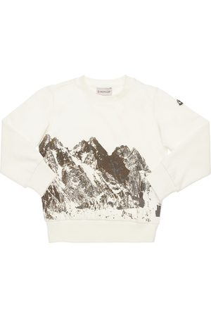 Moncler Boys Sweatshirts - Flocked Cotton Sweatshirt