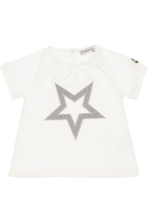 Moncler Lurex Star Cotton Jersey T-shirt