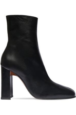 By Far Women Ankle Boots - 100mm Elliot Leather Ankle Boots