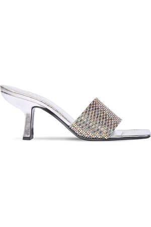By Far Women Sandals - 75mm Dylan Metallic Leather Sandal