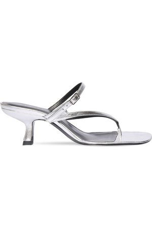By Far Women Sandals - 60mm Desire Metallic Leather Sandals