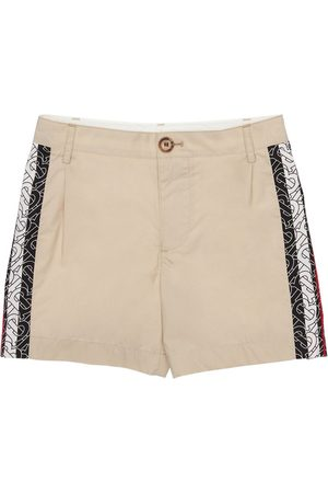Burberry Printed Cotton Gabardine Shorts