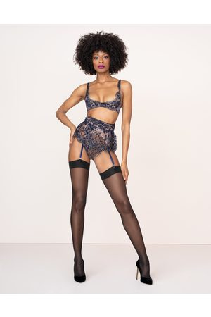 Agent Provocateur Women Socks - Mimosa Waspie In Navy And Peach