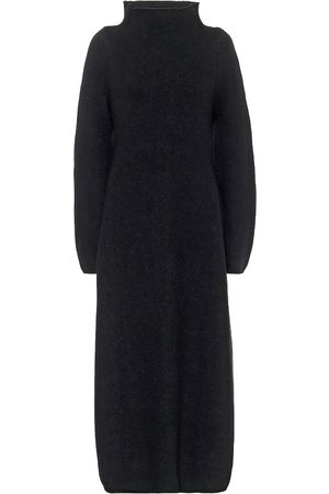 Jil Sander Wool-blend mockneck maxi dress
