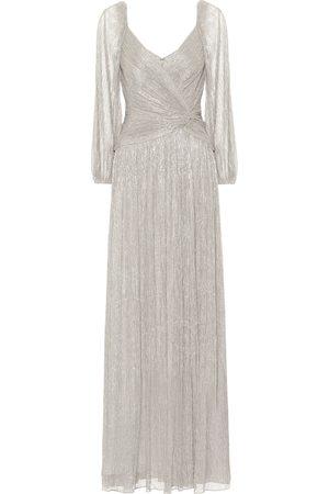 JONATHAN SIMKHAI Adele plissé lamé gown