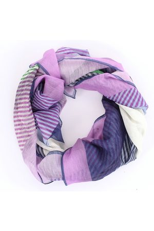 BARBA Scarves Women Lilac and Cotton / Linen