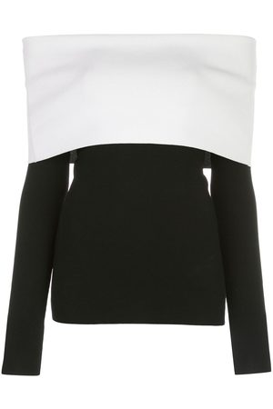 Proenza Schouler Two-tone off-the-shoulder top