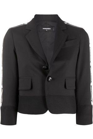 Dsquared2 Women Blazers - Cropped single-breasted blazer
