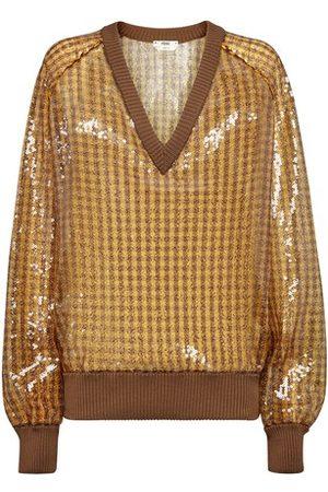 Fendi Women Tops - V neck long sleeves top