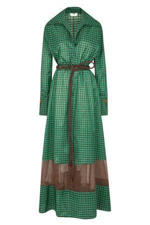 Fendi Women Maxi Dresses - FF long silk dress