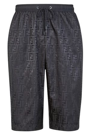 Fendi Men Bermudas - FF nylon shorts